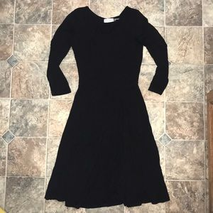 Calvin Klein 0P black fit & flare dress